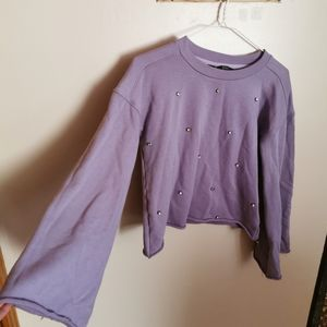 Buffalo top with flare sleeves size XS